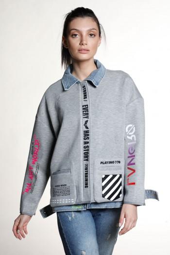 Grey and Denim Jacket WORLD