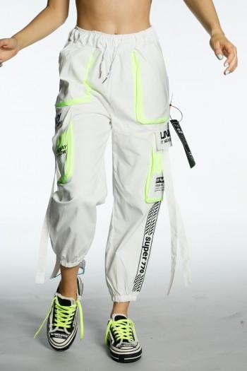 Designed White Jogger Pants UNIROY
