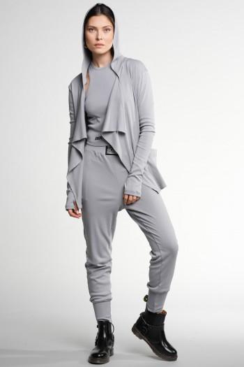Grey Color Three Piece Cotton Set STYLE