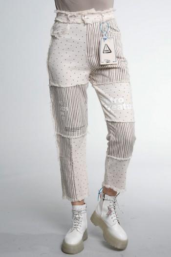 Beige Color  Denim Pants  RETRO