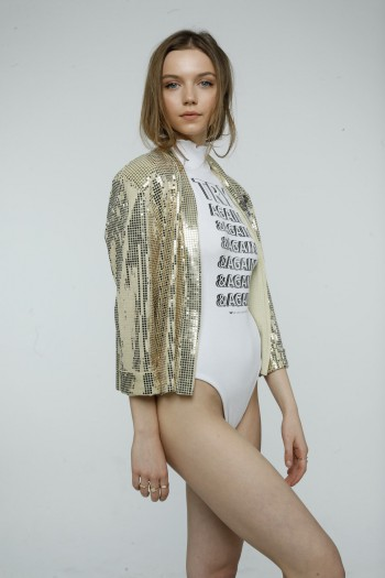 golden Sequin Blazer Jacket ROCK