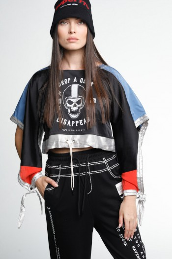 Asymmetrical Long Sleeve Shirt DISAPPEAR