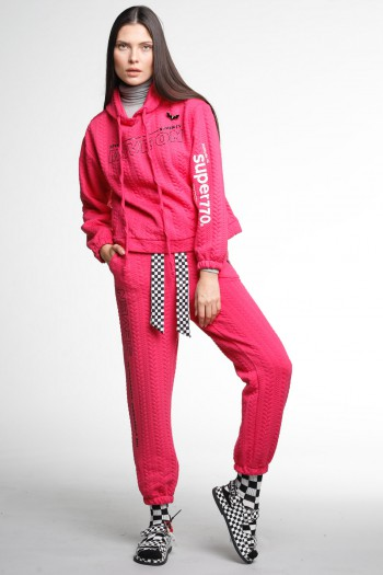 Pink Two Piece pullover Set MOVE ON
