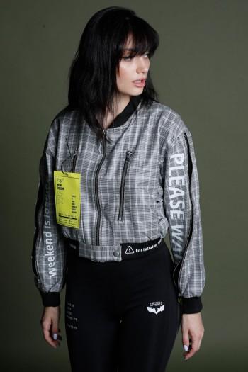Black and White Designed Cotton Jacket SOCIAL