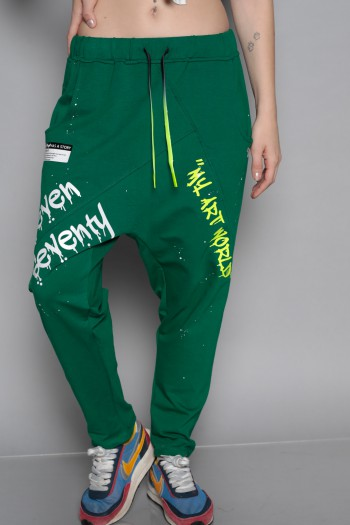 Designed Green Pullover Baggy Joggers ART