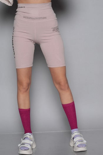 Pink Bermuda Cut Leggings PLAYING