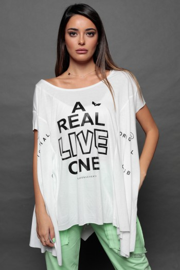 White Over Size- T- Shirt LIVE