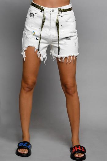 White Short Denim Pants STORY