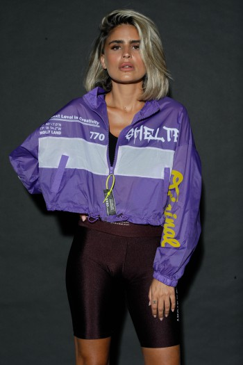 Purple  And White  Wide Nylon Jacket THE BRAND