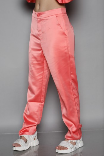 Designed Peach Satin Pants SEVEN