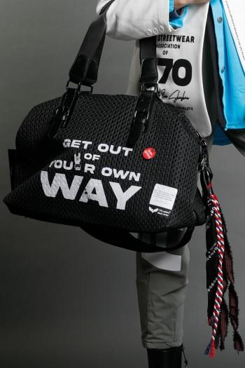 Designed Black Side Hand  Bag  WAY