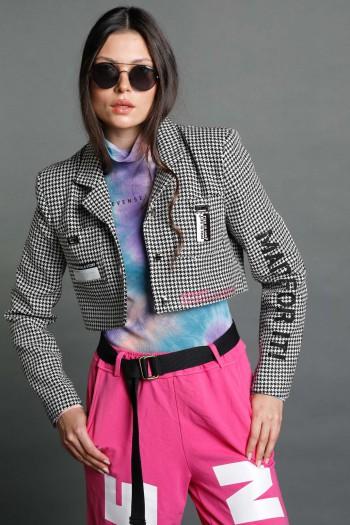 Black and White Pepita Blazer Jacket  BELIEVE