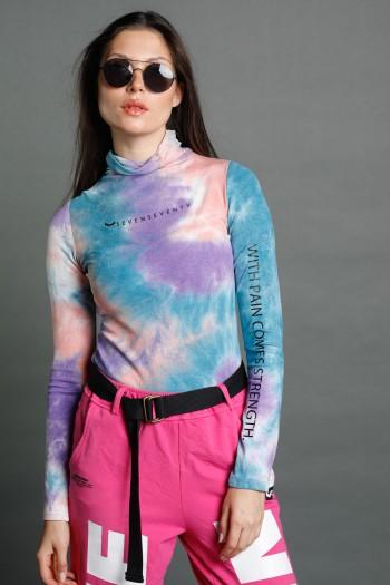 Colorful  Long Sleeve Half Turtleneck Top  STRENGTH