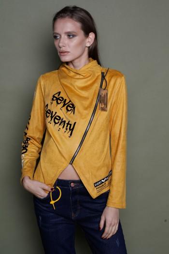 Mustard Gray Designed Sporty Jacket WIN