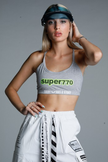 Grey Crop Bra SUPER770