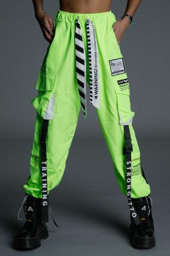 Designed Neon Yellow-Green Jogger Pants ATTITUDE