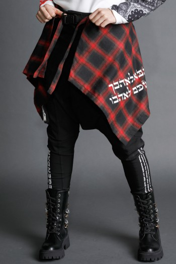 Red And Black Plaid Wrap Cover Up LOVE