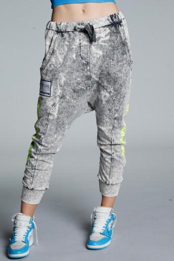 Washed Grey Jogger Pants CRUSH