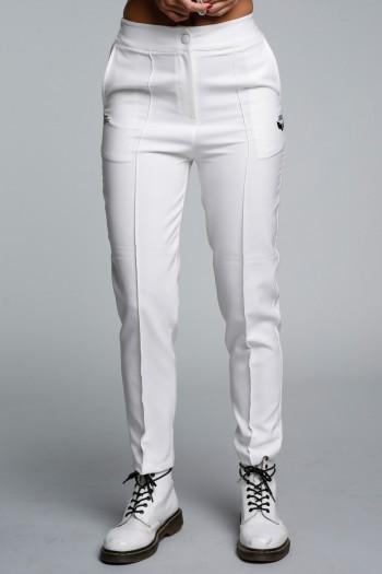 White Elegant Cut  Pants SEVEN