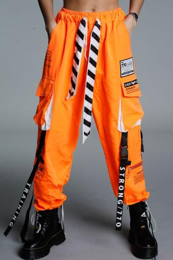 Designed Orange Jogger Pants ATTITUDE