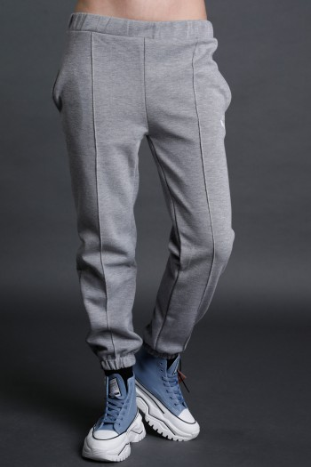 Light Gray Designed Pullover Jogger Pants  SEVEN