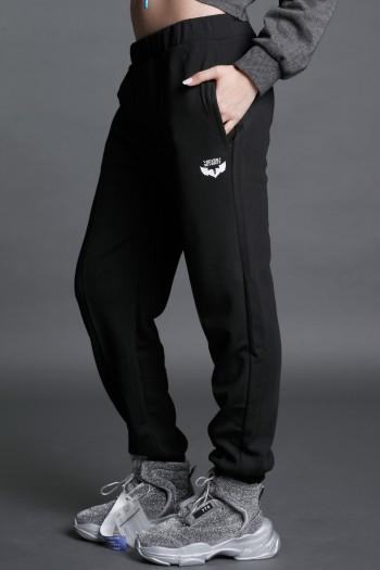 Black Designed Pullover Jogger Pants  SEVEN