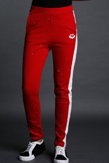 Red Sport Elegant Cut Pullover  Pants SEVEN