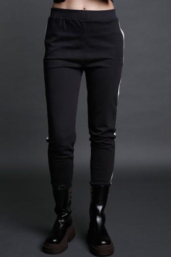Black Sport Elegant Cut Pullover  Pants SEVEN