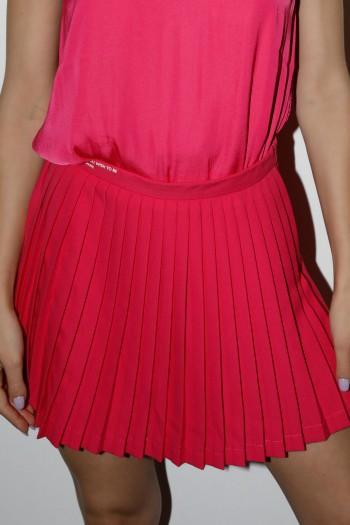 Pink Color Fine Fabric Mini Skirt Pants LOVE
