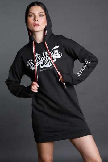 Black Hooded Dress Tunic WAKE
