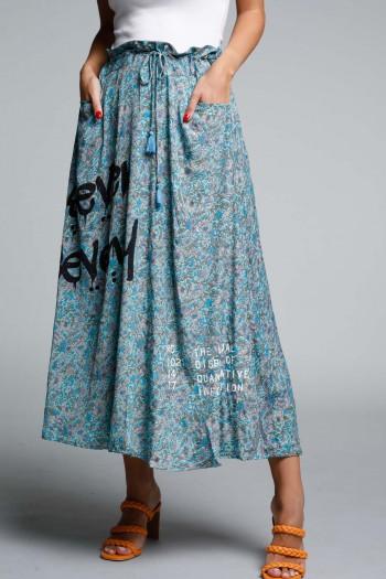 Blue Shades Boho Style Maxi Dress SEVENSEVENTY