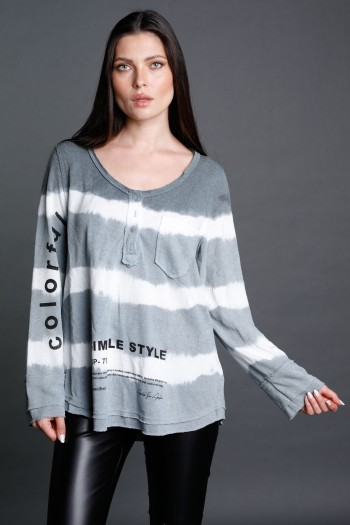 Long Sleeve Black Cotton Long Sleeves  Top  WORTH