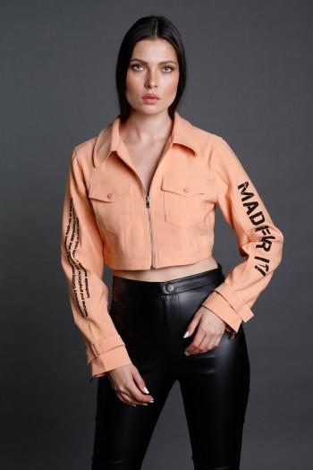 Peach Color Short Cut  Blazer Jacket  FOR IT