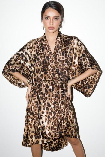 Leopard Kimono Dress INTERESTED