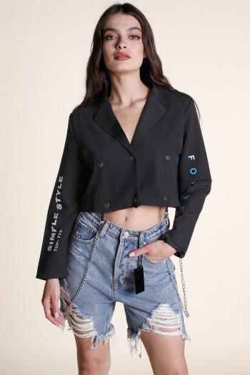 Black Short Cut Jacket MUST
