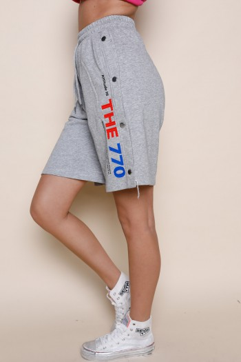 Gray Pullover Bermuda Pants THE 770