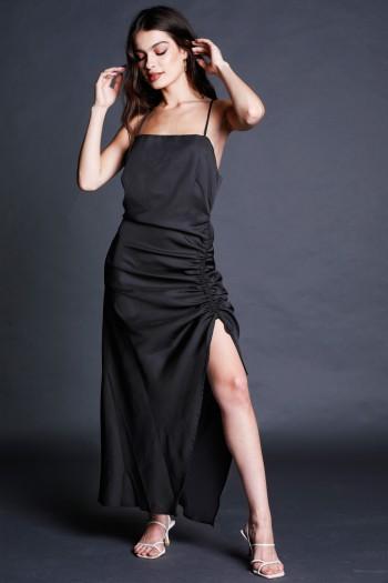 Black Evening Maxi Dress NIGHT