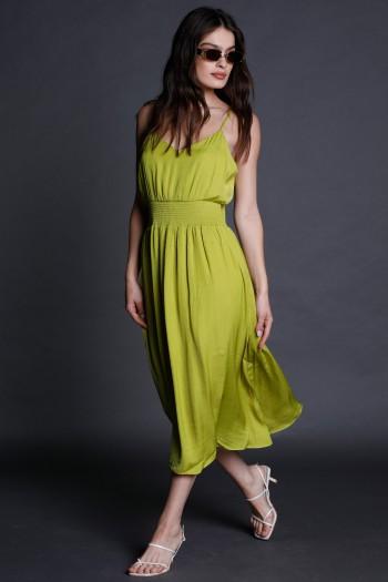 Green Evening Midi Dress CHIC