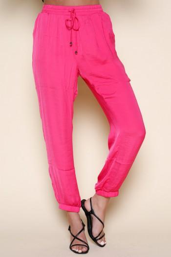 Designed Pink Satin Pants SEVEN