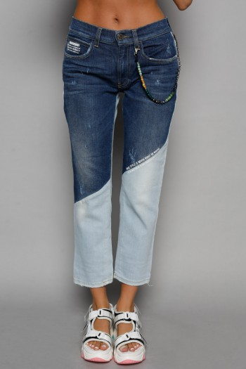 Two Shades of Blue Denim Pants REAL