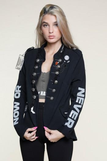 Black Pullover Blazer Jacket NEVER
