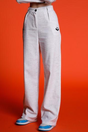 Beige Elegant Cut  Pants COLORS
