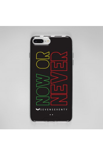 Black Phone Case NOW OR NEVER