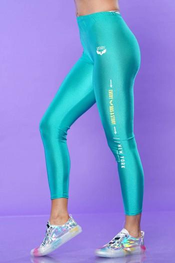 Turquoise Lycra Leggings STORY