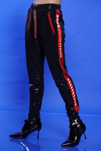 Black Designed Sequin Pants STORY