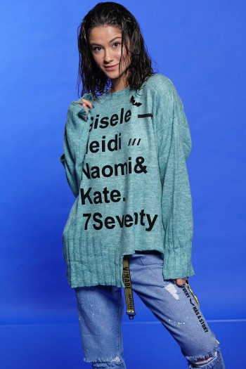 Light Blue Color  Soft Sweater GISELE