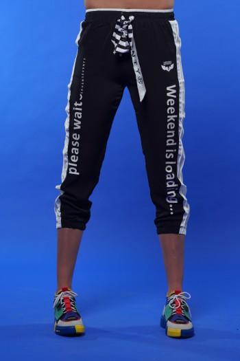 Designed Black Color Jogger Pants WEEKEND