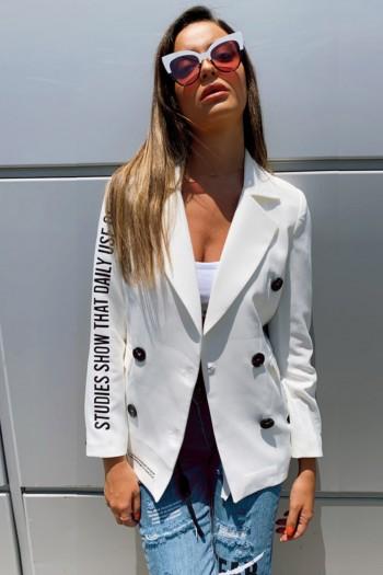Ivory Blazer Jacket WARNING