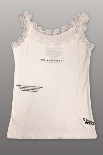 Ivory Color Lace  Tank Top SEVEN