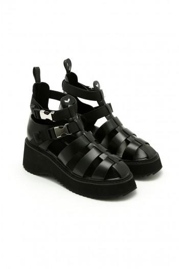 Black Color Sandals SEVEN